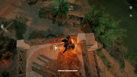 Плохой день Assassins Creed origins, Гифка, Огонь