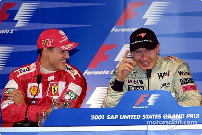 М.Шумахер и М.Хаккинен - соперники которые уважали друг друга Формула 1, Михаэль Шумахер, Мика хаккинен, Соперничество