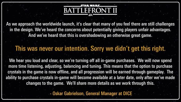 DICE извинилась за микротранзакции Star Wars Battlefront II, Ea games, Микротранзакции, Dice