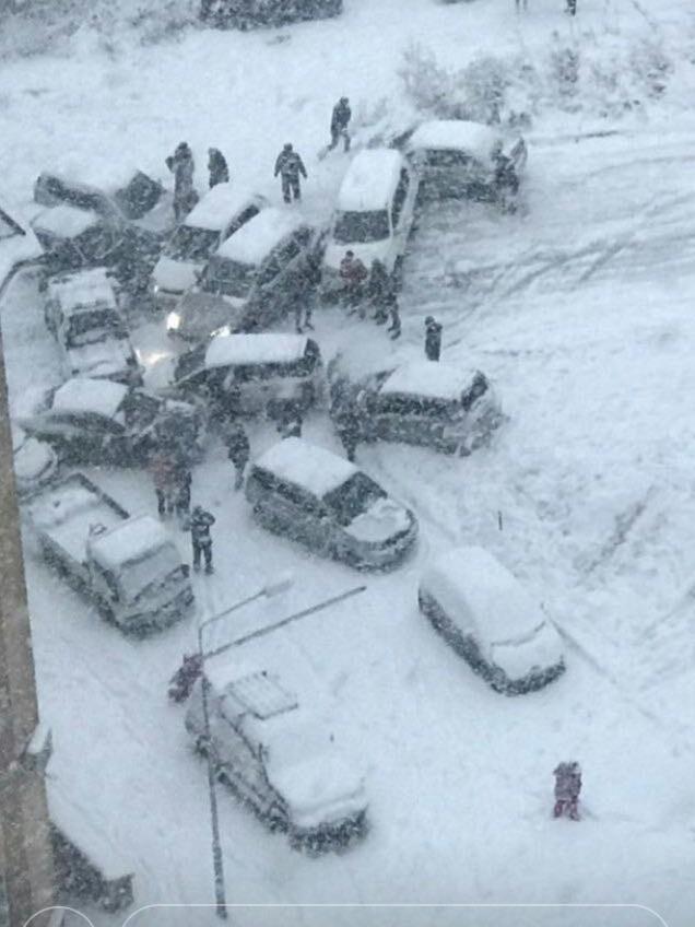 Первый снег во Владивостоке Снег, День жестянщика, Привет читающим тэги, Длиннопост