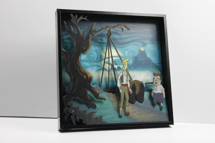 Диорама по игре Monkey Island 3 + (Sound module) Диорама, Monkey Island, Видео, Ручная работа, Пятничный тег моё, Арт, Хобби, Game Art, Длиннопост