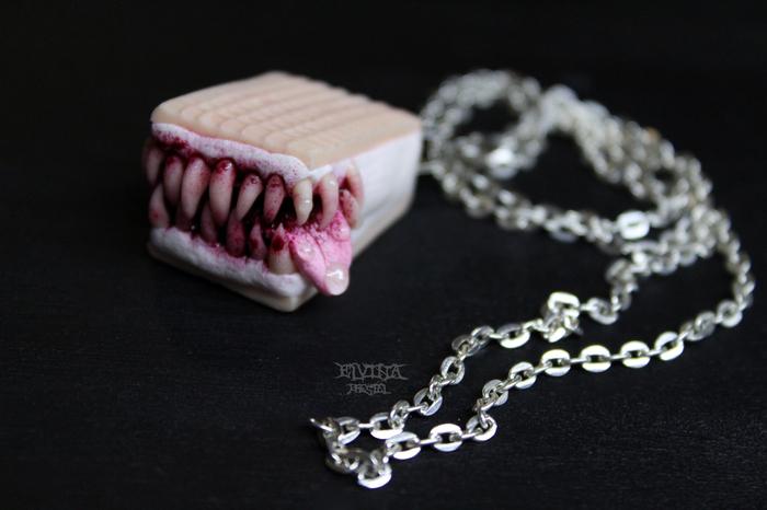 Полимерный хищный Пломбир Полимерная глина, Моё, Зубастик, Пломбир, Мороженое пломбир