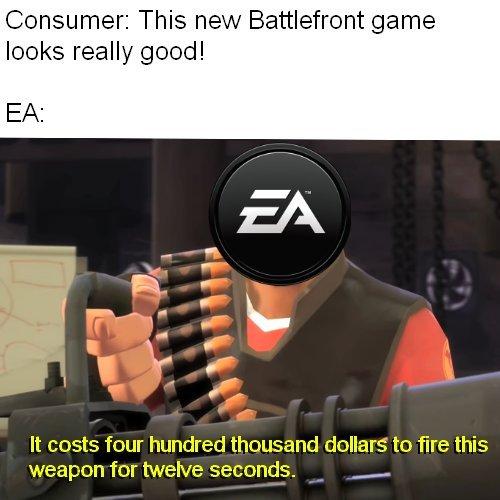 Electronic Arts и торговая политика EA games, Мемы, Жадность, Star Wars: Battlefront