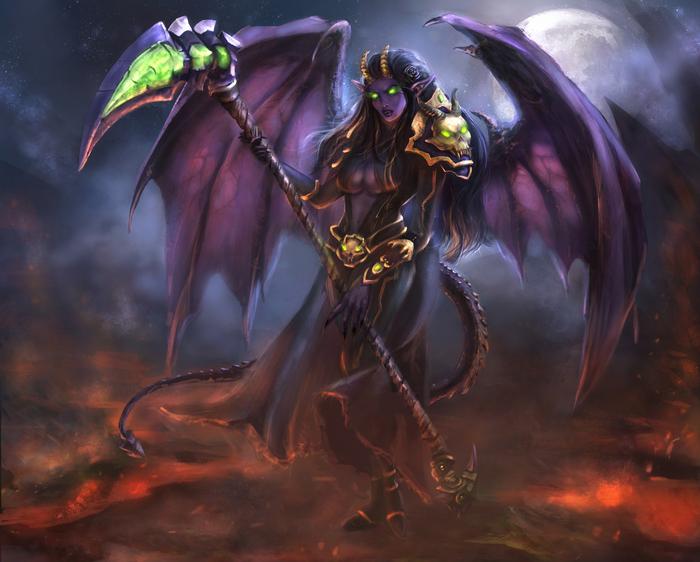 DH Commission World of Warcraft, Demon hunter, Original character, Blizzard, Цифровой рисунок