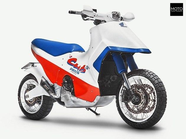 Чудо кастом-скутер 745-кубовый от Хонды Скутер, Хонда, 2018, Мото, Мотоциклы, Мотоциклист, MotoTeamRussia, Длиннопост
