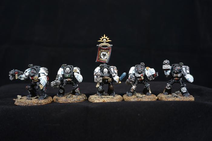 Raven guard. Terminators. Wh miniatures, Raven guard, Warhammer 40k, Миниатюра, Моделизм, Длиннопост