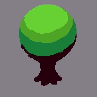 Простое пиксельное дерево для ваших игр! Pixel Art, Пиксель, Туториал, Gamedev, Дизайн, Длиннопост, Разработка игр, Графика, Гифка