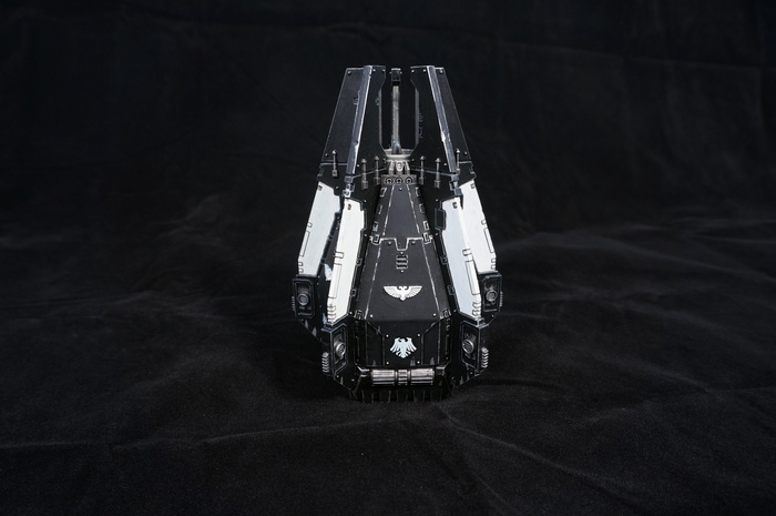 Raven Guard drop pod and predator Wh miniatures, Warhammer 40k, Raven guard, Миниатюра, Моделизм, Длиннопост