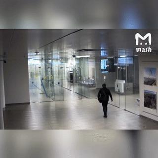 Лабиринт Самара, Аэропорт, Стекло, Дверь, Гифка, Mash