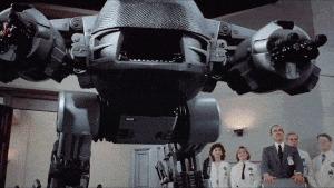 Когда узнал на Пикабу о том что Сбер обзавёлся роботами... Сбербанк, Робот, Гифка, Робокоп, Будущее