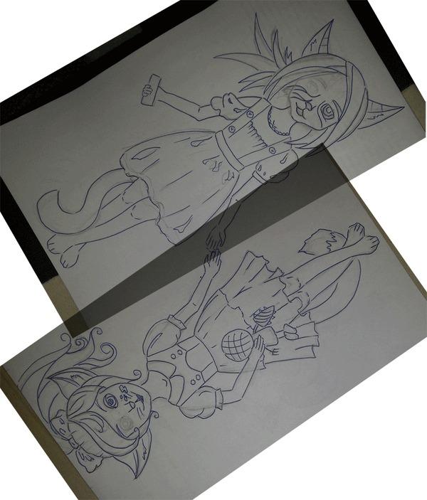Проект Игрокошки) Маленькие сестрички Фурри, Компьютерные игры, Bioshock, Murzya, Гифка, Длиннопост