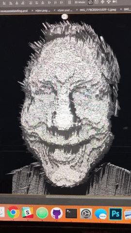 """Так сканер Face ID в iPhone X """"видит"""" лицо пользователя Iphone x, Iphone, Apple, Гифка"""