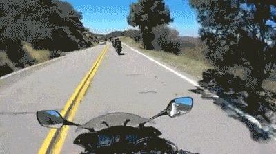 Я ехал 80 кмч. на своем мотоцикле...