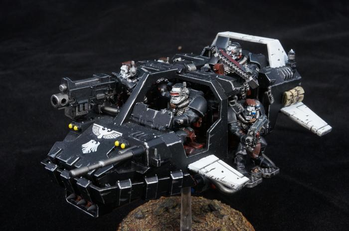 Raven Guard Land speeders and Devastators Wh miniatures, Warhammer 40k, Raven guard, Миниатюра, Моделизм, Длиннопост