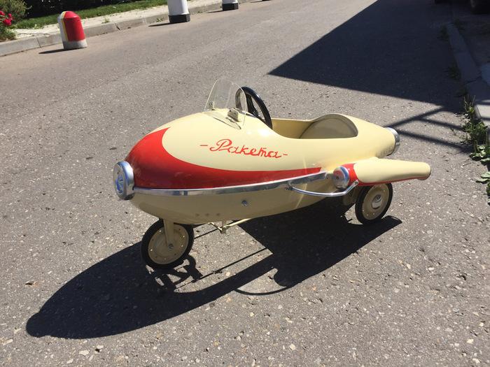 Педальная РАКЕТА — можно в Космос! игрушки, реставрация, восстановление, drive2, длиннопост