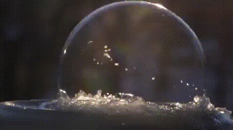 Как получаются пузырьки льда