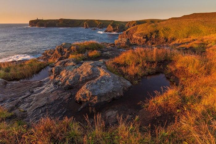 Мыс Край Света и маяк Шпанберга Остров Шикотан, Курильские острова, маяк, Россия, Природа, фотография, пейзаж, длиннопост