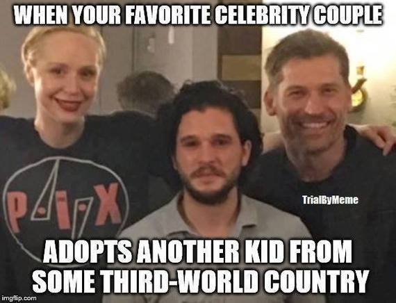 Когда твоя любимая пара знаменитостей усыновляет еще одного ребенка из какой-то страны третьего мира