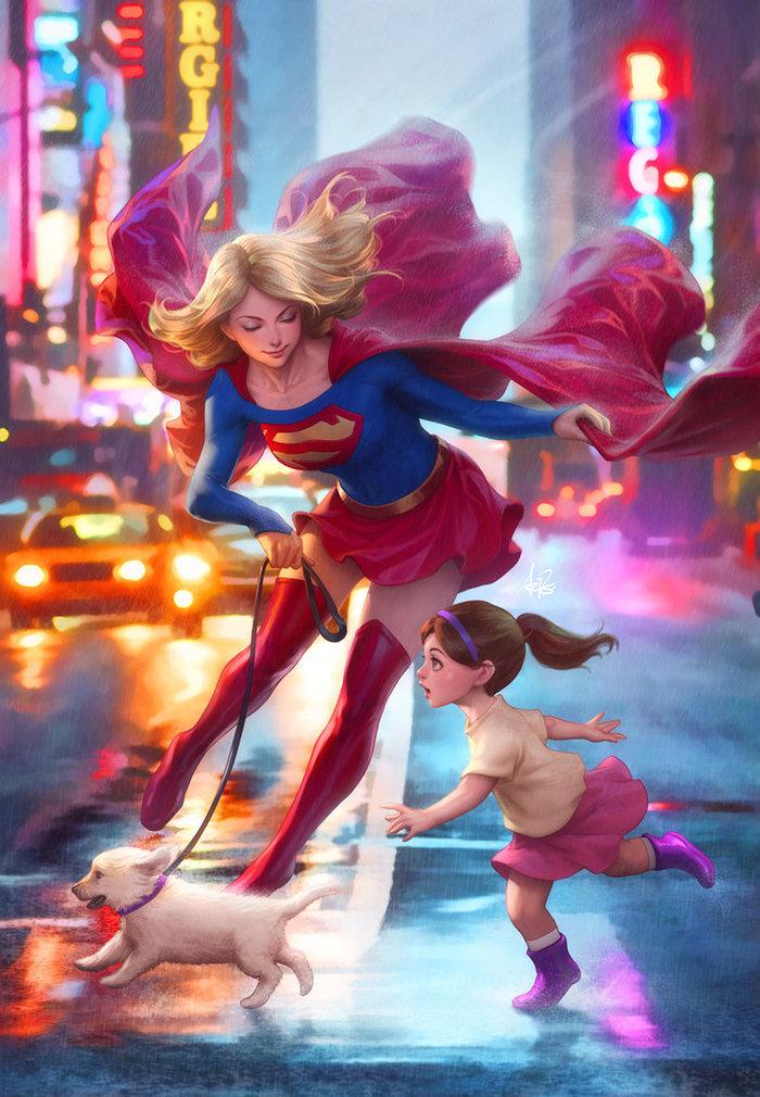 Supergirl DeviantArt, Арт, Рисунок, Комиксы, DC, Супергерл