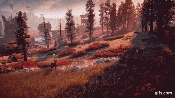 Как работает зрение мобов в видеоиграх Horizon Zero Dawn, Digital foundry, Видеоигра, Движок, Gamedev, Гифка