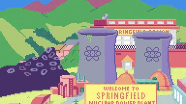 Пиксельные Симпсоны.