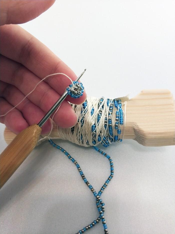 Как сделать Новогодний шарик из бисера рукоделие с процессом, новогодние шарики, игрушки из бисера, бисер, хобби, длиннопост