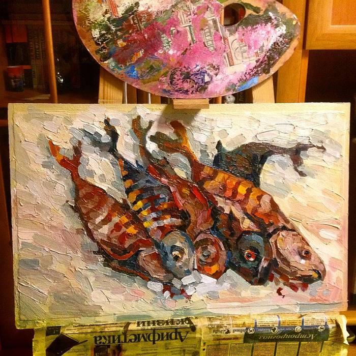 Вторая жизнь выкрасок или живопись по декоративке. Живопись, Декоративная штукатурка, Декор, Картина маслом, Длиннопост