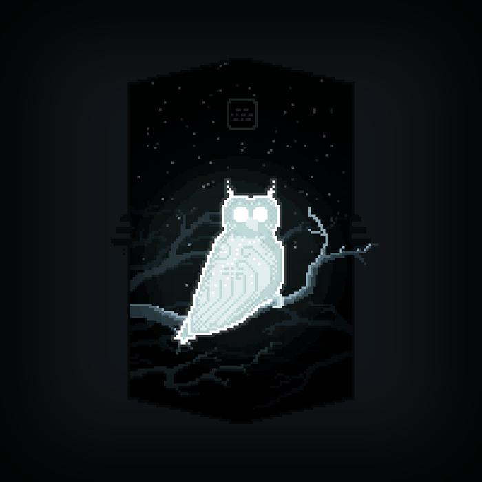 Слегка мистический пиксельарт с совой