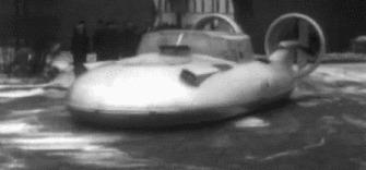 ГАЗ-16 – экспериментальный советский летающий автомобиль Газ-16, Советский автопром, Воздушная подушка, Гифка