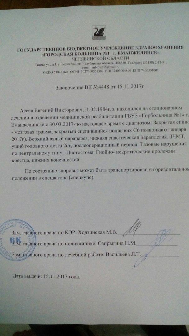 В Челябинской области спасли парализованного парня, от которого отказались жена и мама Помощь, Абакан, Челябинская область, Больница, ДТП, Волонтеры, Длиннопост