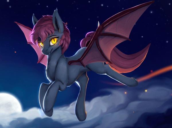 Ventress My Little Pony, Batpony, Гифка, Арт