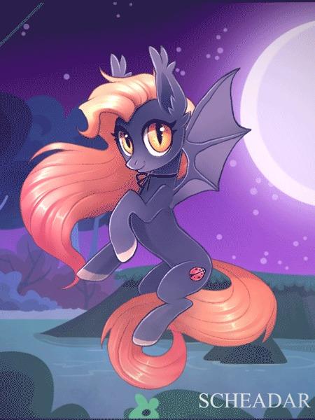Batpony My Little Pony, Batpony, Гифка, Арт