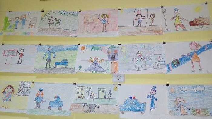 Дети - отражение родителей. Рисунок, Детский сад, Хамство, Базарные бабки