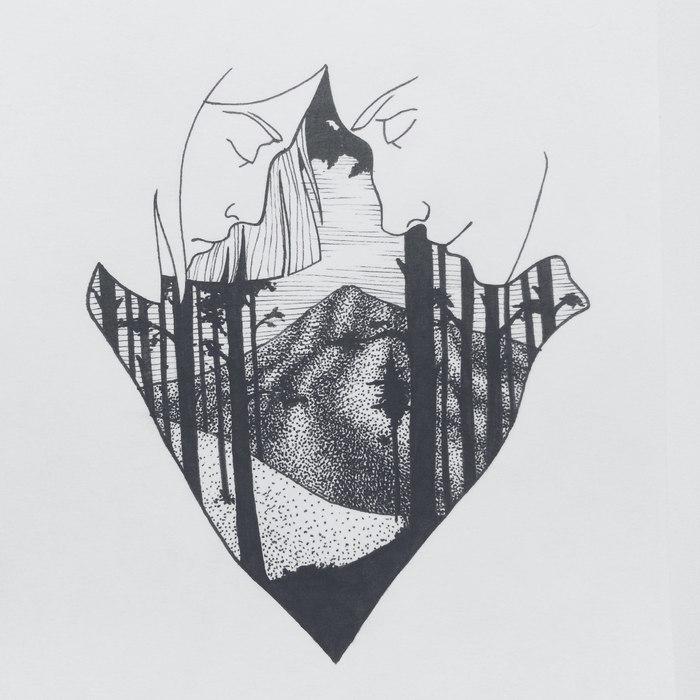 Пятничное мое арт, рисунок, графика, лев, Харуки Мураками, Норвежский лес, длиннопост