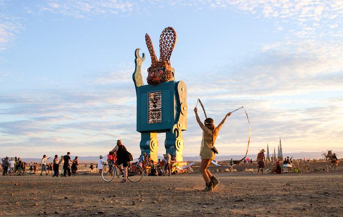Заяц - волк Burning Man, Ну погоди!, Заяц-Волк, Арт