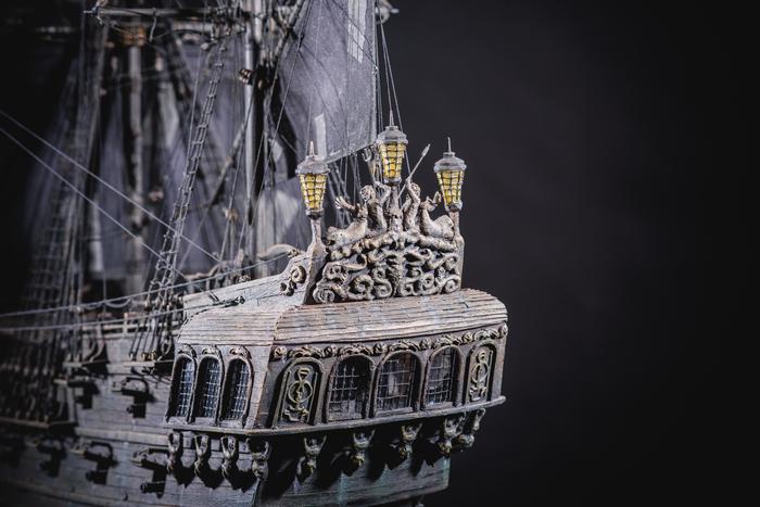 """Модель парусного корабля """"Черная жемчужина"""". Черная жемчужина, Пираты карибского моря, Ручная работа, Модели из дерева, Стендовый моделизм, Длиннопост"""