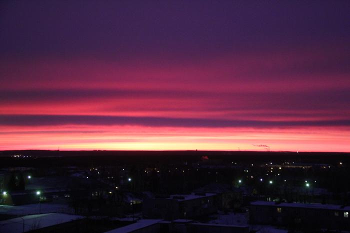 Сегодняшний рассвет в Екатеринбурге Фотография, Рассвет, Екатеринбург, Небо, Природа