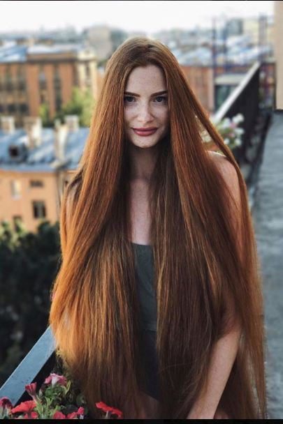 У мамы волосы рыжие на лобке