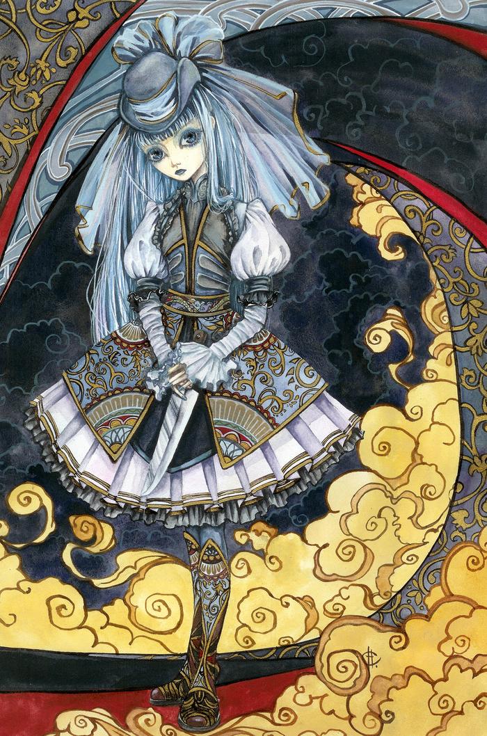 Lolita with Big Knife Готы, Anime Art, Арт, Картинки