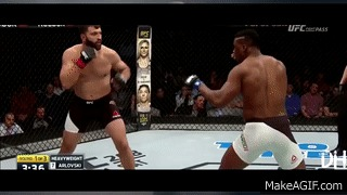 Боец с самым сильным ударом в мире Франсис Нганну, MMA, Боец, Мощь, Судьба, Гифка, Видео, Длиннопост