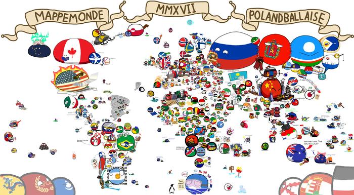 Официальная карта мира Countryballs 2017 Countryballs, Рисунок, Карта мира, Страны