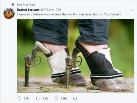 Я знаю, вы верите в то, что видели ужаснейшие туфли когда-либо, но нет. Еще не видели.