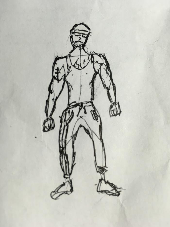 Я нарисовал Вована благодаря Пикабу. Безрукий, Ящер, Рукожоп