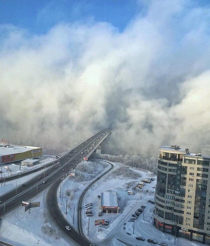 Морозец в Красноярске.