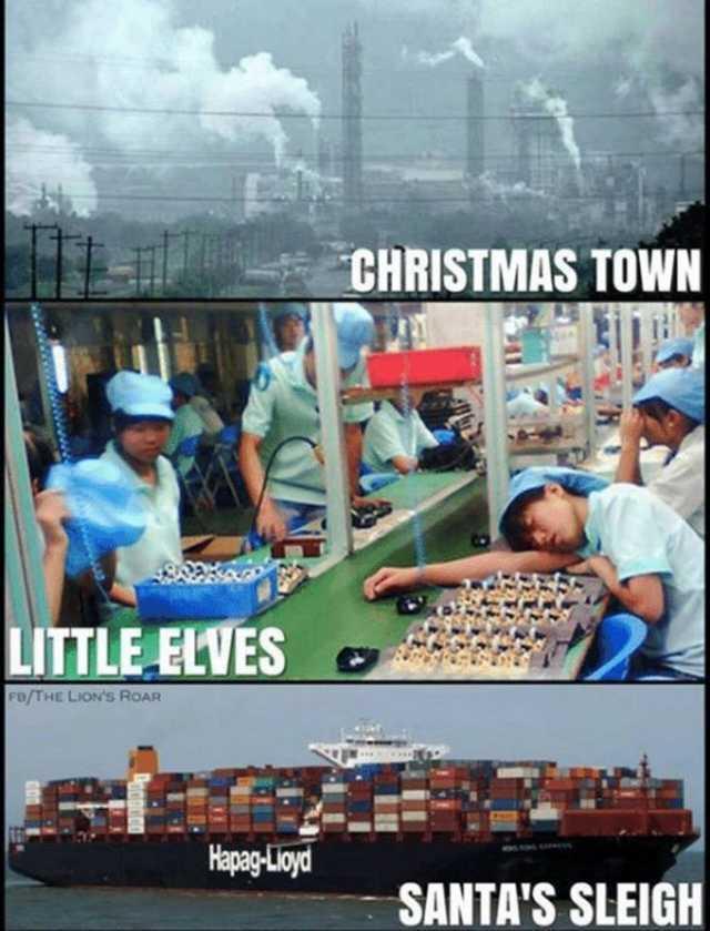 Современная рождественская сказка Рождество, Новый Год, Игрушки, Фабрика, Китай, Made in china, Сказка и реальность