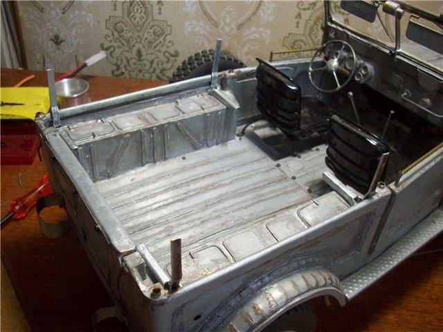 Модель ГАЗ-69 в масштабе 1/10 газ, авто, моделизм, своими руками, длиннопост, видео