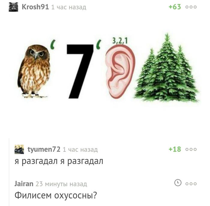 Филисем охусосны Комментарии, Ребус