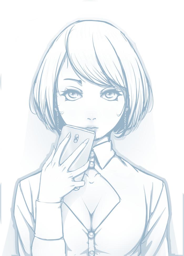 Наброски №2 Длиннопост, Рисование, Anime Art, Девушки, LeArtNi