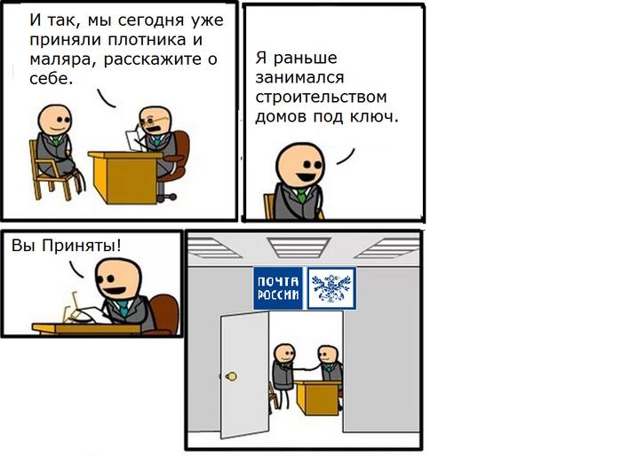 Собеседование Собеседование, Paint, Шутка, Почта России