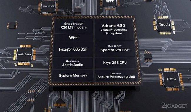 Qualcomm презентовала топовый процессор Snapdragon 845 QUALCOMM, процессор, видео, длиннопост